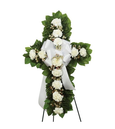 Sympathy Standing Cross White