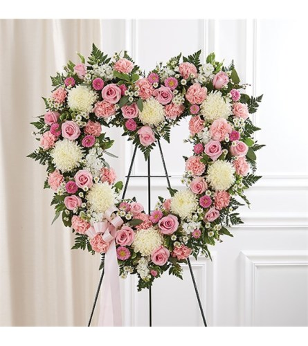 Sympathy Remember Standing Heart Tribute Pink