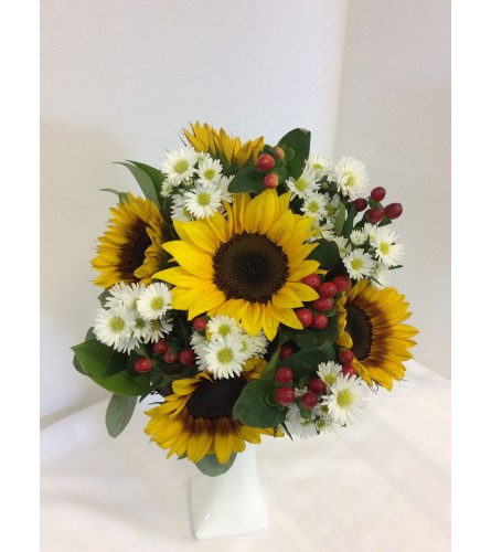Prom - BVP30 - Sunflower Burst Bouquet (pick up only)