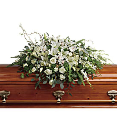 Grandest Glory Casket Spray White