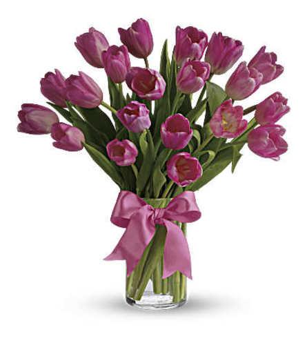 Precious Pink Tulip Vase