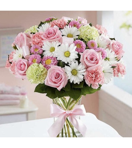 A Sweet Baby Girl arrangement
