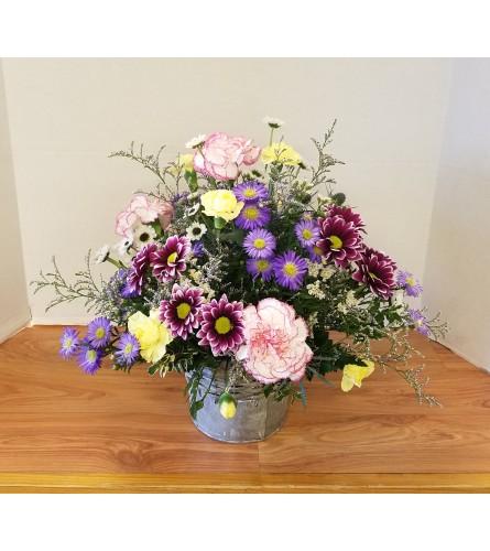 Bucket of Wildflowers Bouquet