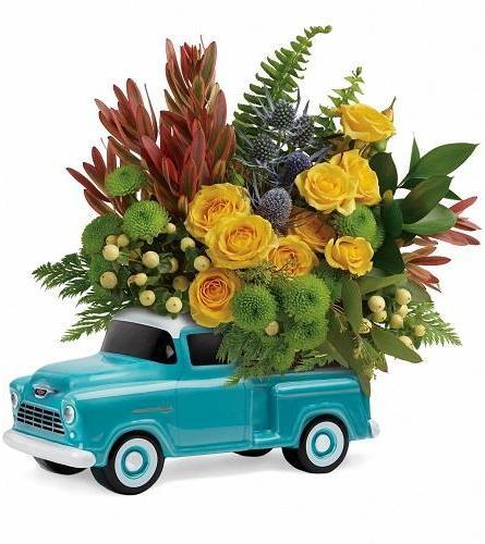 Chevy Full Of Flowers