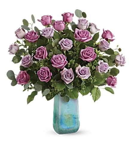 Two Dozen  Watercolor Roses Bouquet