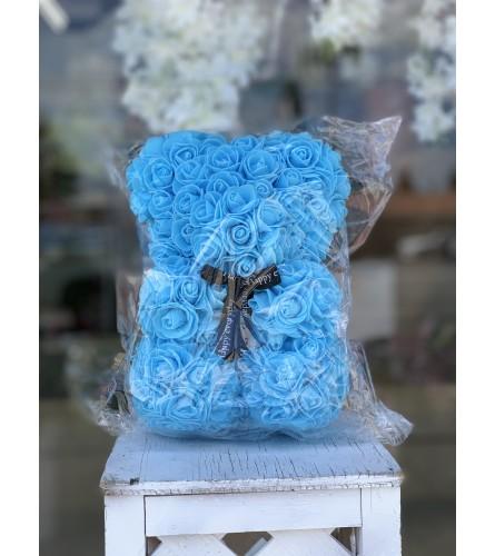 Small Blue Rose Bear
