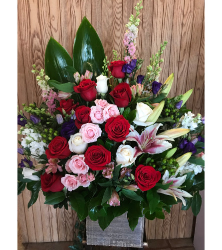 Big Wood Rose Box