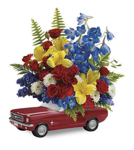 Mustang Full Of Flowers