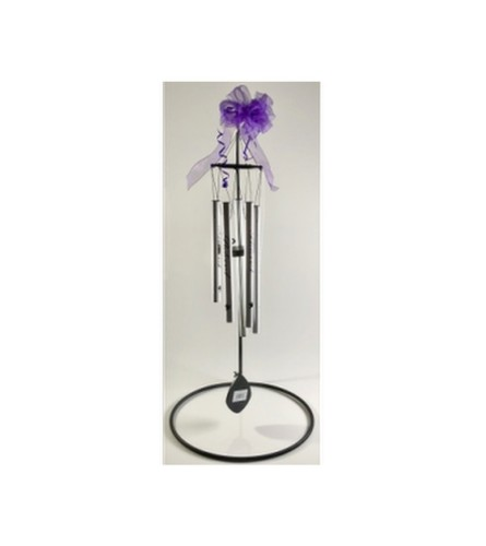 Pewter Fleck Signature Wind Chime