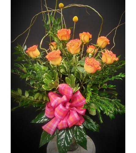 Dozen Circus Roses