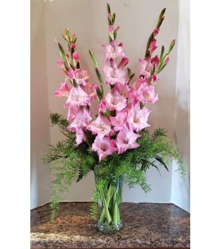 Vase of Gladiolus