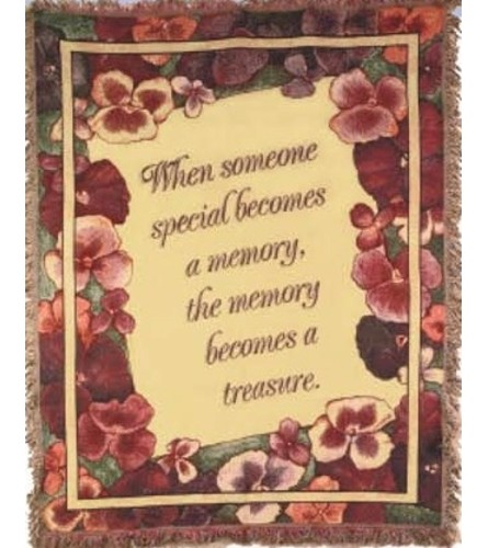 Memory Becomes A Treasure Afghan (red)