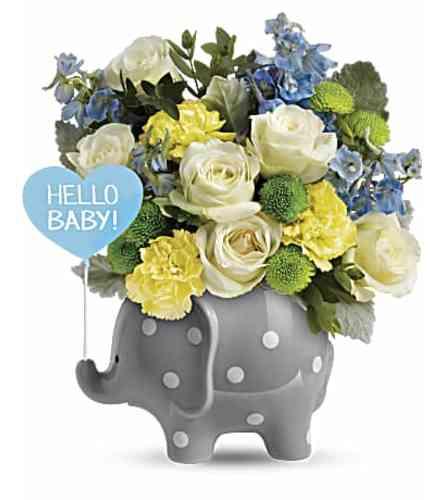 Hello Baby Elephant- Blue