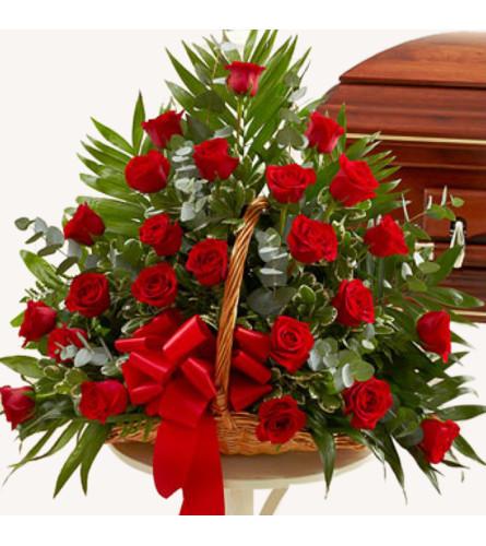 Equadorian Red Rose Basket