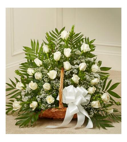 All White Rose BAsket