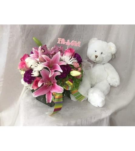 It's- A- Girl bouquet