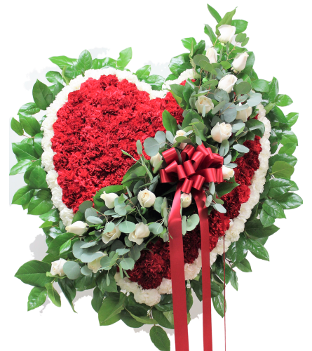 Red and White Heart Tribute