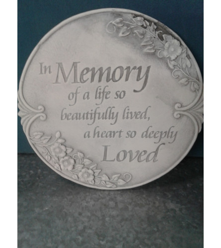 Memory of a Life Stepping Stone