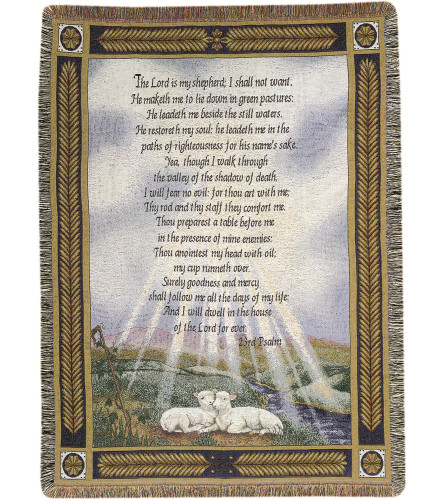 Tapestry Throw - 23rd Psalm