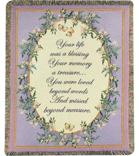 Tapestry Throw - Your Life Was A Blessing