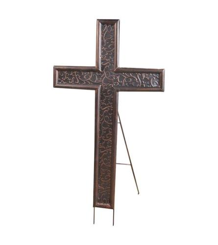 Metal Cross Easel - Antique Bronze