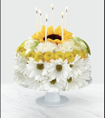 Amazing Birthday Smiles Floral Cake Charlotte Nc Florist Personalised Birthday Cards Veneteletsinfo