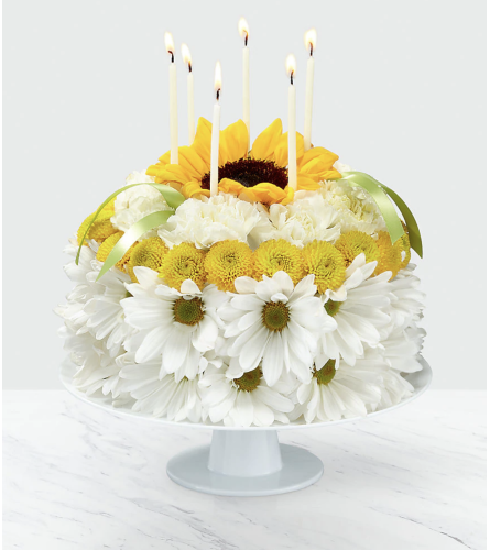 Birthday Smile Floral Cake