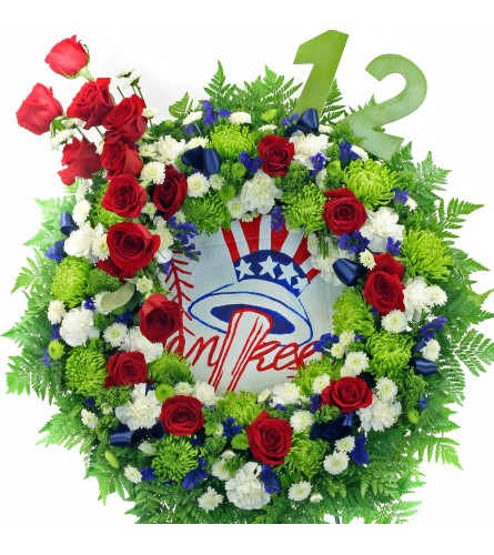 NY Yankees Wreath