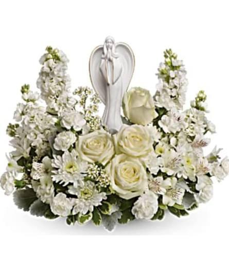 Angel in White Garden