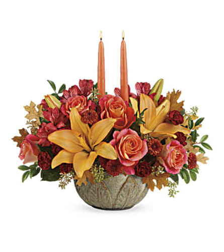 Artisanal Autumn LILY Centerpiece