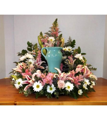 Pretty in Pinks Urn Wreath