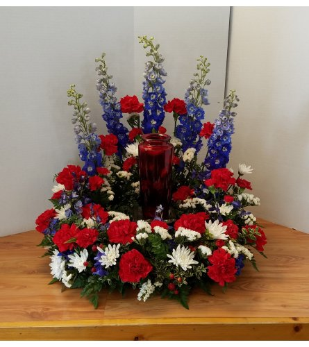 Colors Of Honor Urn Wreath