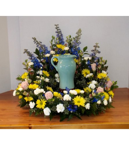 A Walk In The Garden Urn Wreath