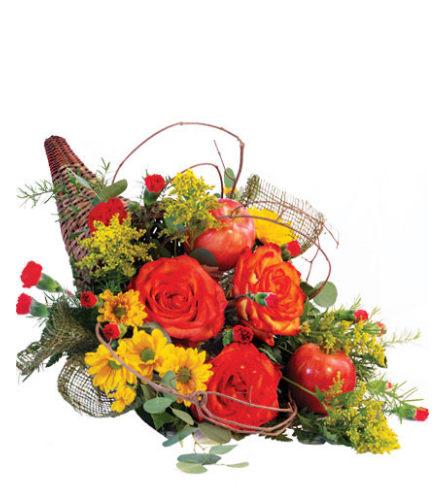 Majestic Cornucopia Floral Arrangement - FSN