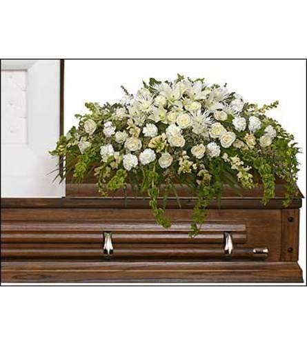 TRANQUILITY CASKET SPRAY Funeral Flowers - FSN