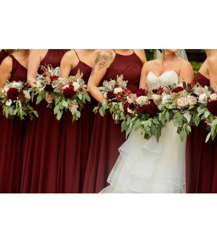 Wine Wedding Flowers