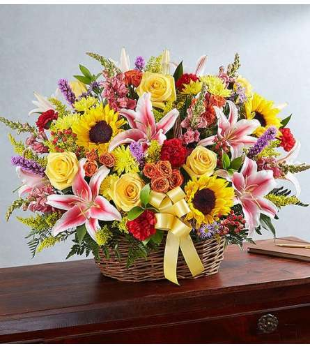 MULTI BRIGHT SYMPATHY BASKET