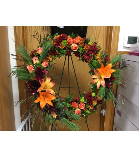 Fall Pine Wreath