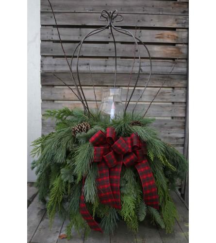 Large Christmas Peanut Basket