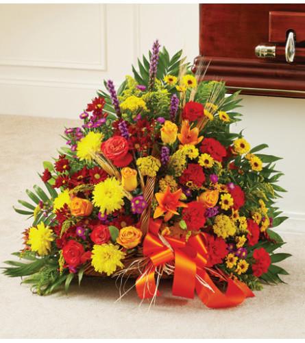 Fireside Basket in Fall Colors