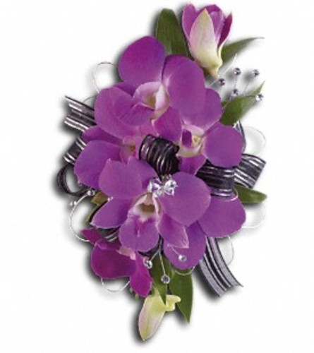 Purple Promise Wrist Corsage *PLEASE CALL TO ORDER*
