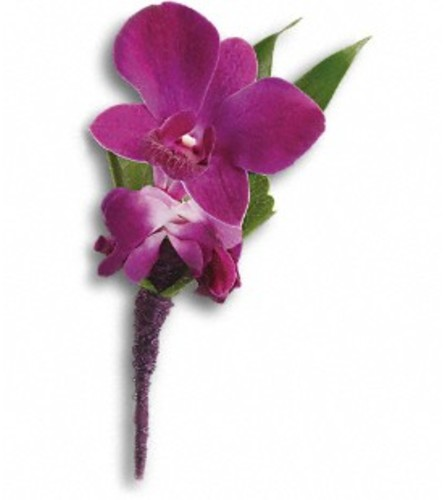Perfect Purple Orchid Boutonniere *PLEASE CALL TO ORDER*