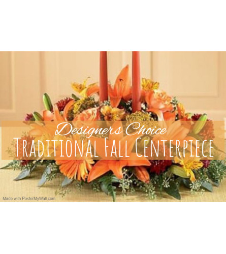 Traditional Fall Centerpiece Florist Design