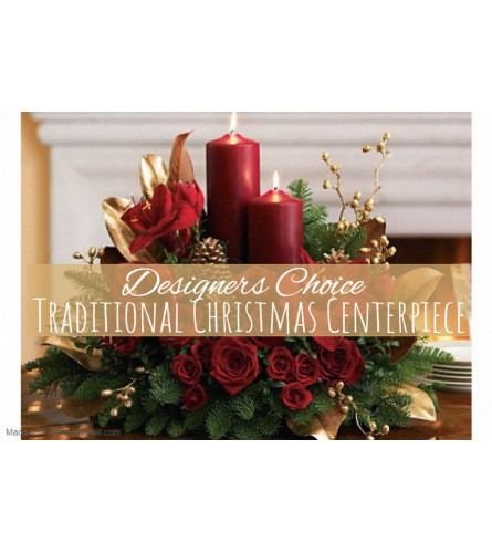 Traditional Christmas Centerpiece Florist Design