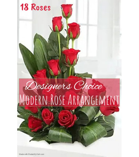 Roses In A Modern Style Florist Design