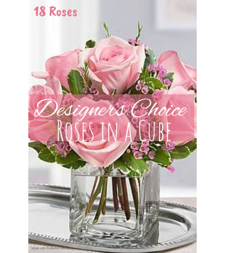 Roses In A Cube Florist Design