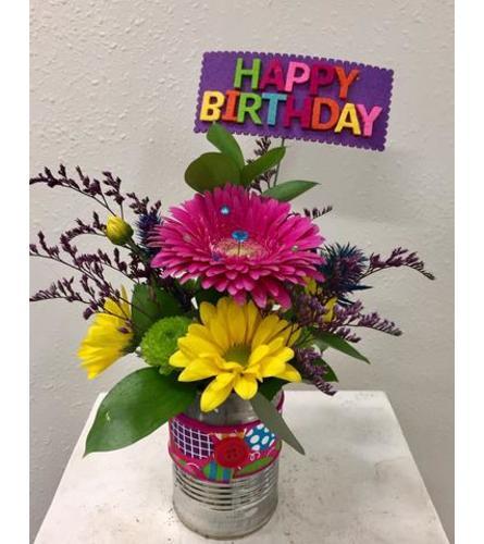 Happy Birthday! Gerbera Can