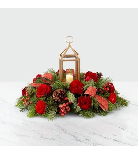 The FTD I'll Be Home for Christmas Centrepiece