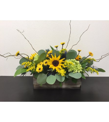 Sunflower Centerpiece Box