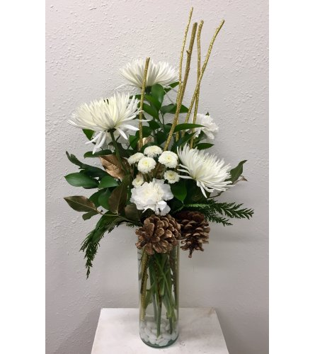 Winter White Vase